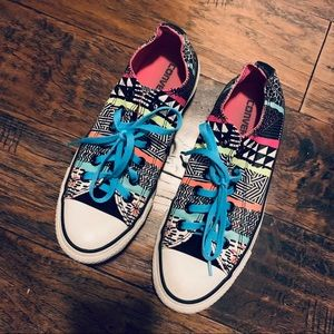 Converse All stars neon aztec low top sneakers
